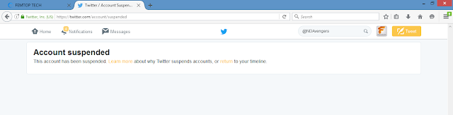 Photo of Twitter Take Down @NDAvengers [Niger Delta Avengers Militant Group] Account