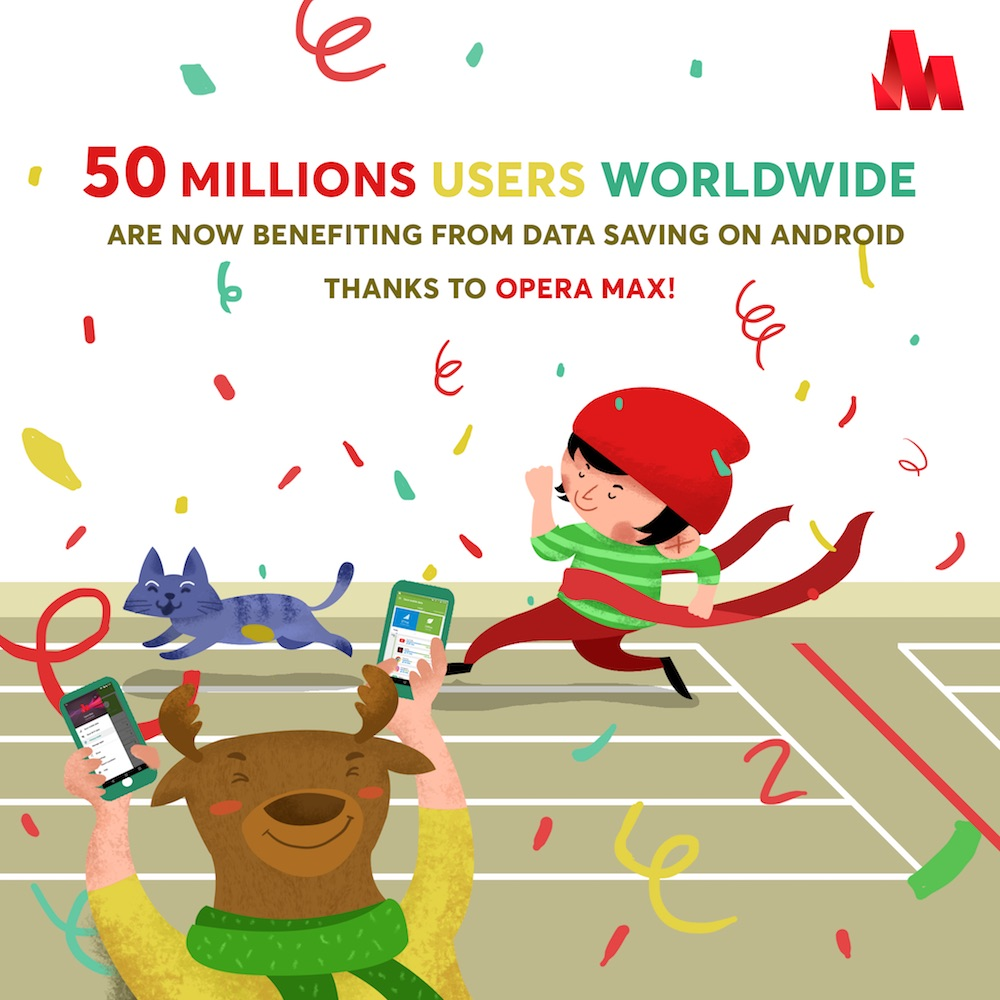 Photo of Opera Max Celebrates 50 Million Android Active Users With VIP Mode