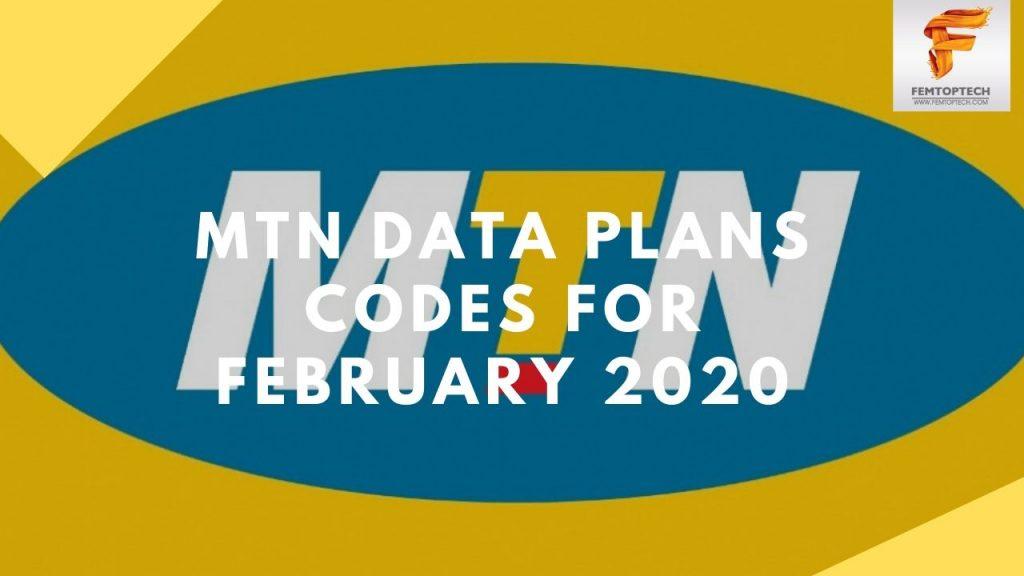 MTN Data Plans Codes For February 2020