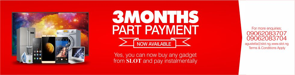 Photo of Slot Nigeria introduces 3 months part payment plan (installment)