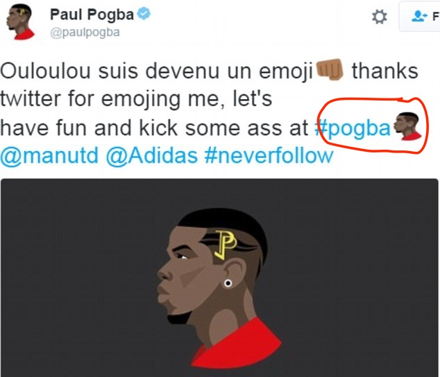 Photo of Wow!!! Paul Pogba Becomes the First Premier League Player to Have His Own Twitter Emoji.