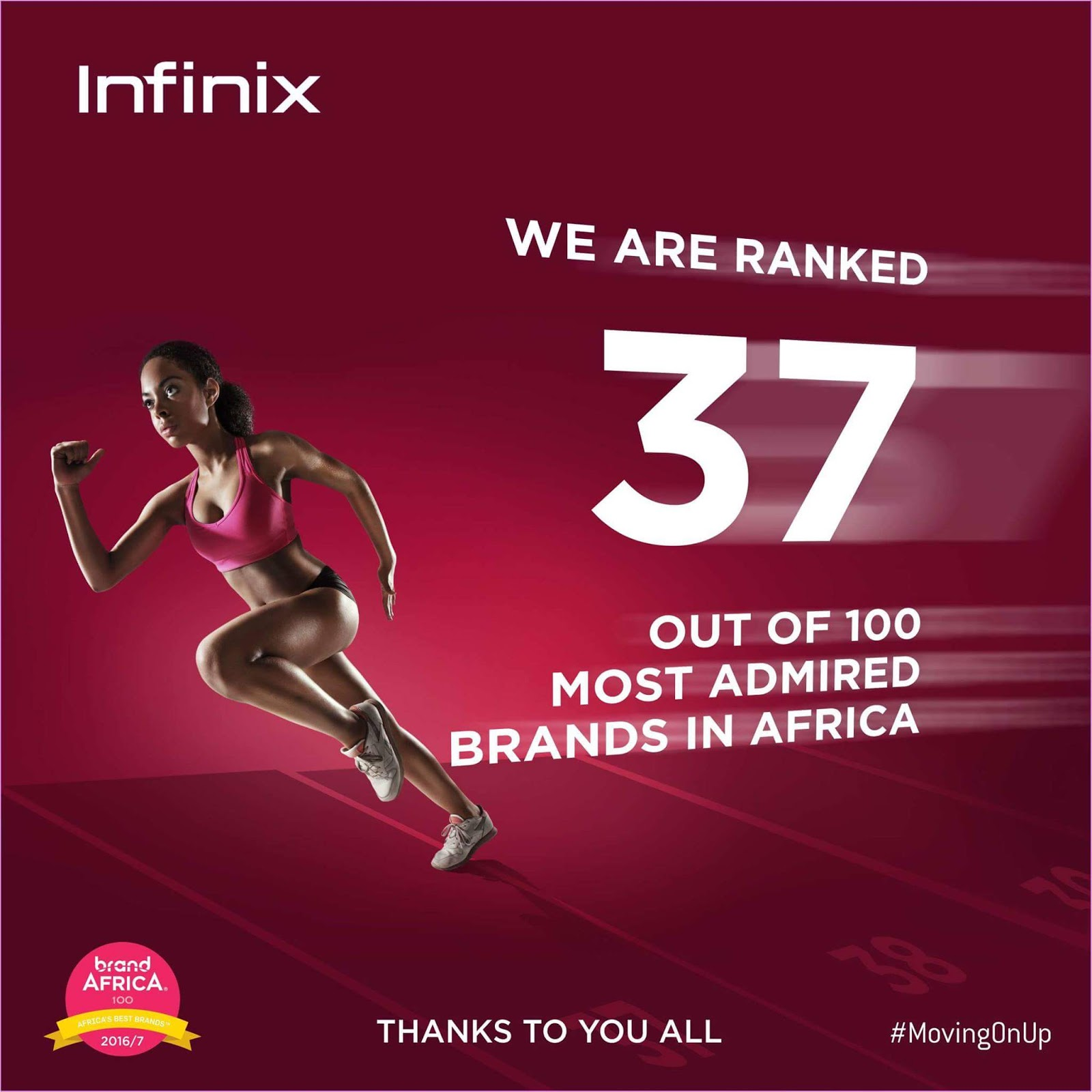 Photo of Infinix ranked 37th out of 100 most admired brands in Africa