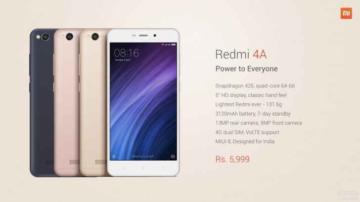 Photo of Xiaomi Redmi 4A launches in India