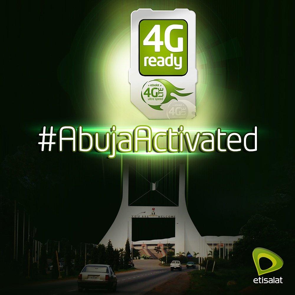 Photo of Hurray!!! Etisalat 4G-LTE Live In Abuja Nigeria #Etisalat4GLTE #AbujaActivated