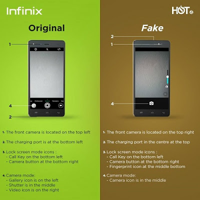 Photo of Five ways to spot a Fake Infinix Hot 4 from the Original Hot 4 Smartphone  #Spotthefake (Video)