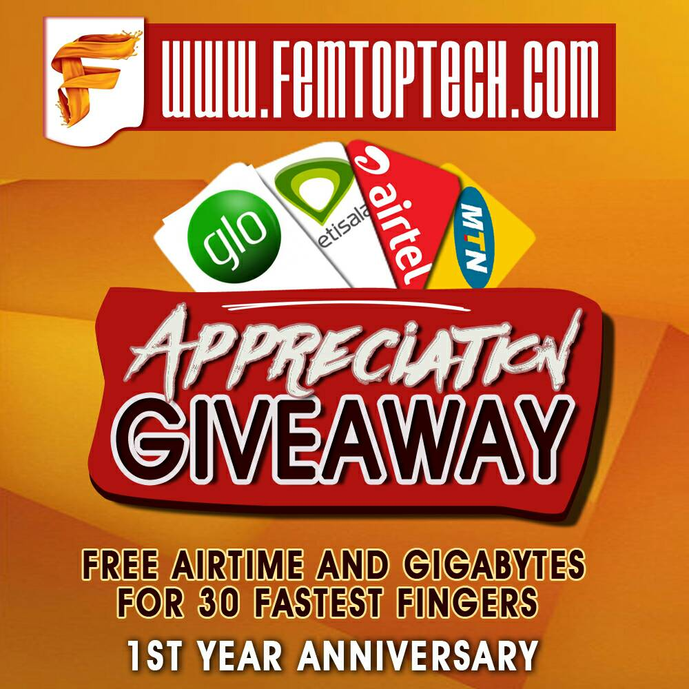 Photo of Appreciation Giveaway: 30 fastest fingers to get free Airtime and Gigabytes of Data