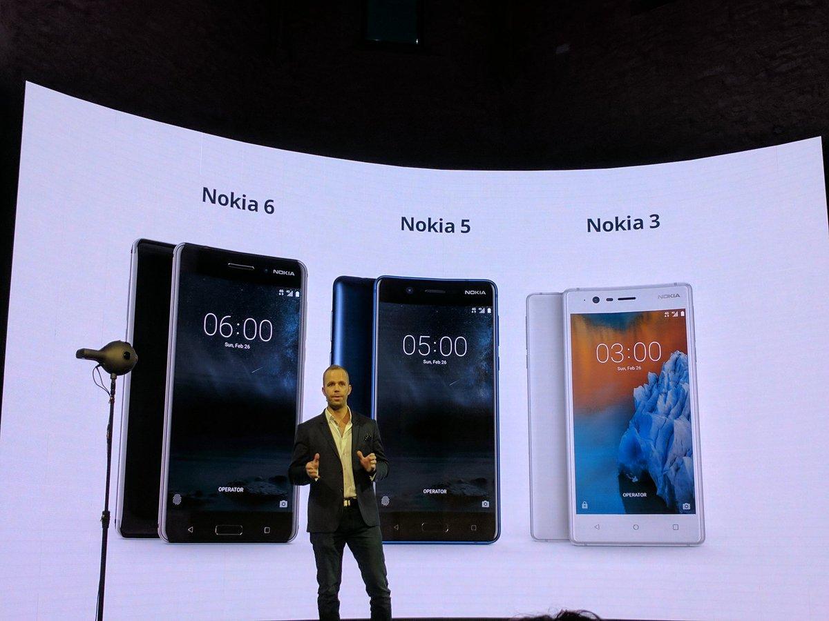 Photo of Nokia unveils Nokia 3, 5 and 6 in India
