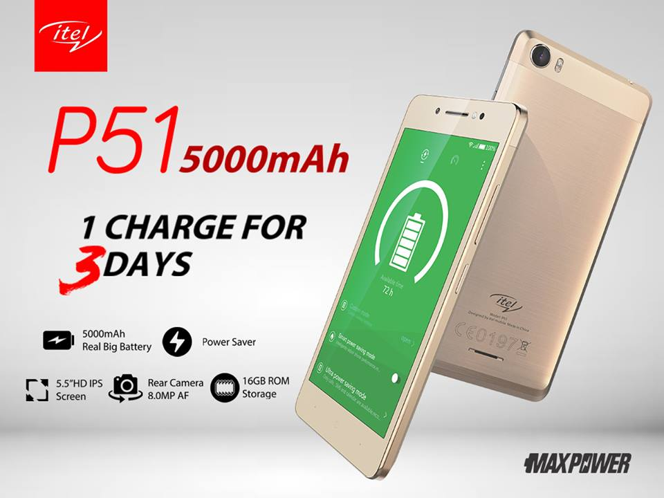 Photo of Itel Mobile unveils Itel P51 with 5000mAh monster battery capacity #Maxpower