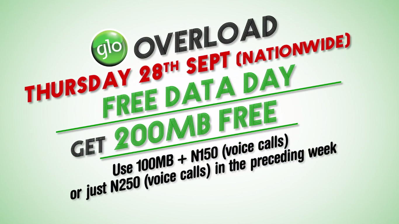 Photo of Again: Glo Announces September 28th, 2017, as Glo Free Data Day Nationwide [Free Browsing]