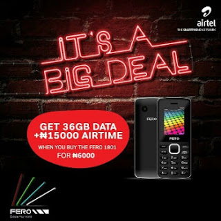 Photo of Crazy Deal: Buy Fero F1801 For Just N6000 And Get 36GB Data + N15,000 Airtime From Airtel NG