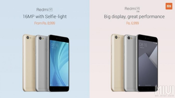 Photo of Xiaomi unveils two affordable smartphones, Redmi Y1 and Redmi Y1 Lite