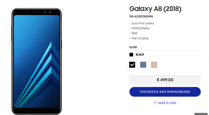 Photo of Samsung Galaxy A8 (2018) is available for sale in Europe