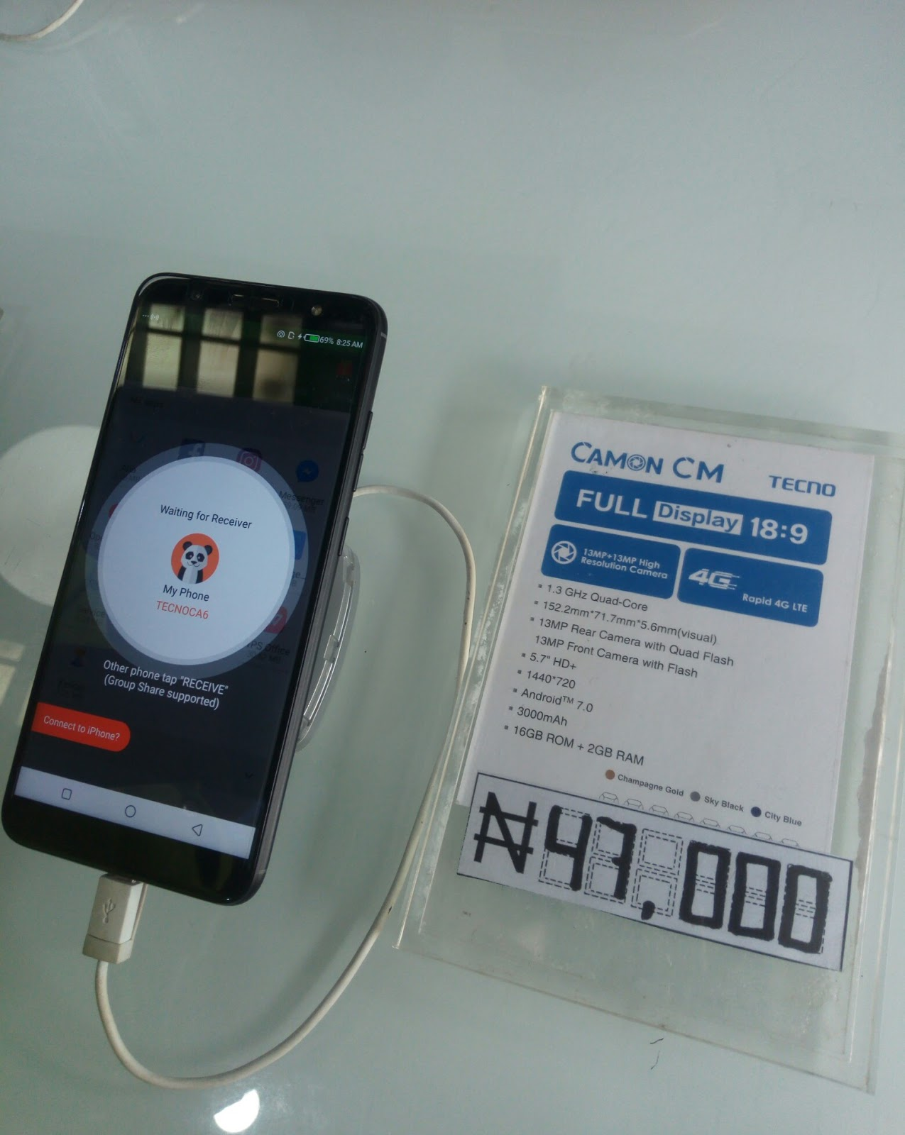 Photo of Tecno Camon CM now available for sale at N47,000; See where to buy