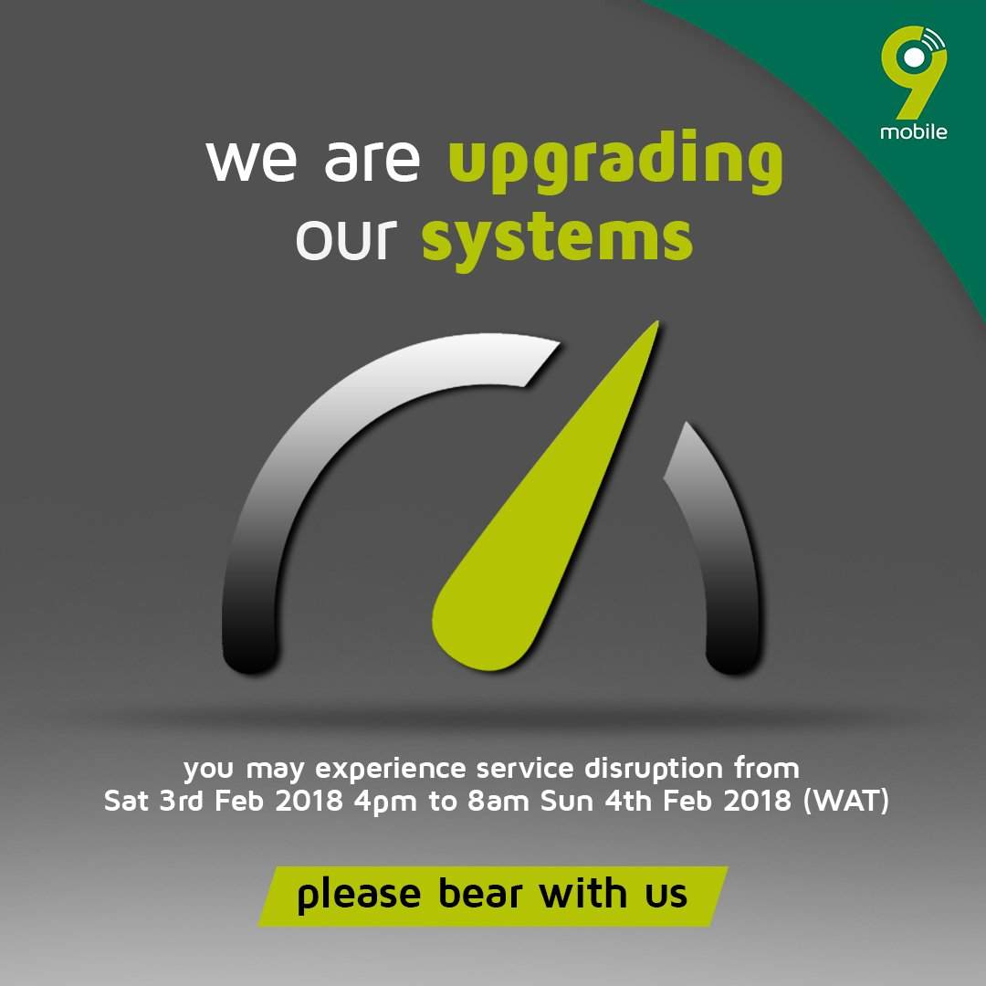 Photo of We are upgrading our systems – 9Mobile