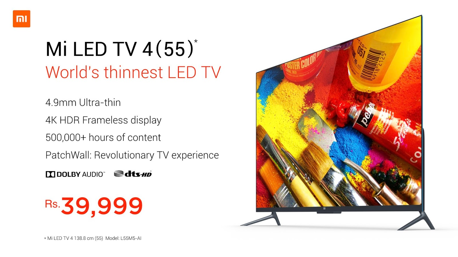 Photo of Xiaomi launches 55-inch Mi smart LED TV 4 in India