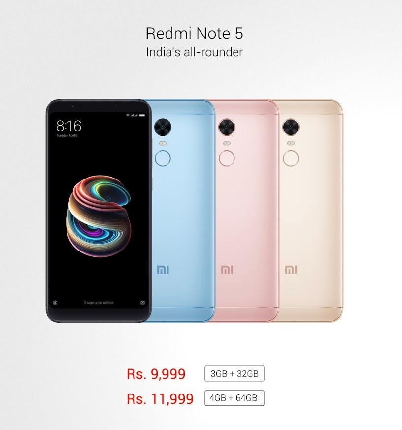 Photo of Xiaomi Redmi Note 5 Specifications And Price