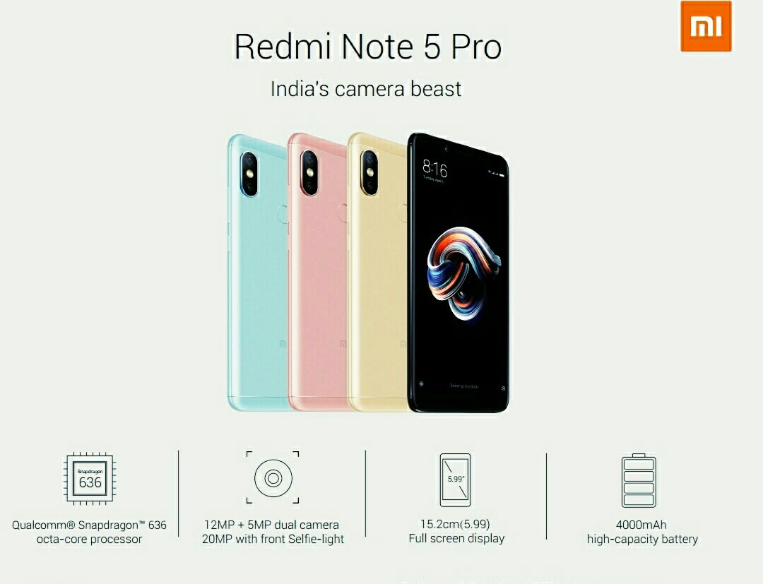 Photo of Xiaomi Redmi Note 5 Pro Specifications And Price