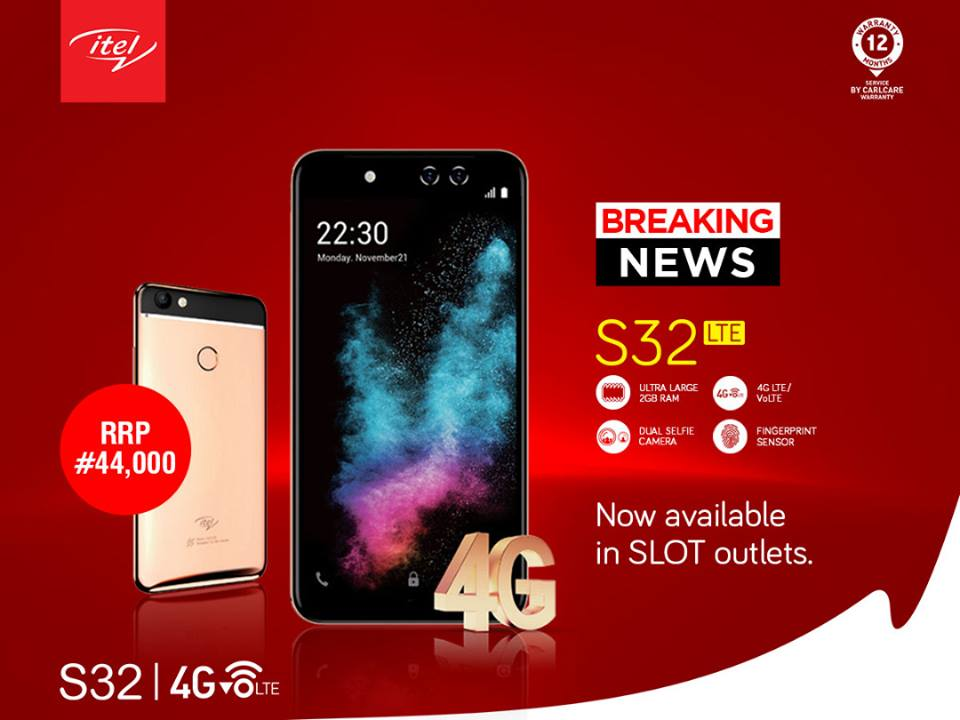 Photo of Itel S32 LTE is now available in SLOT outlets Nationwide for N44,000