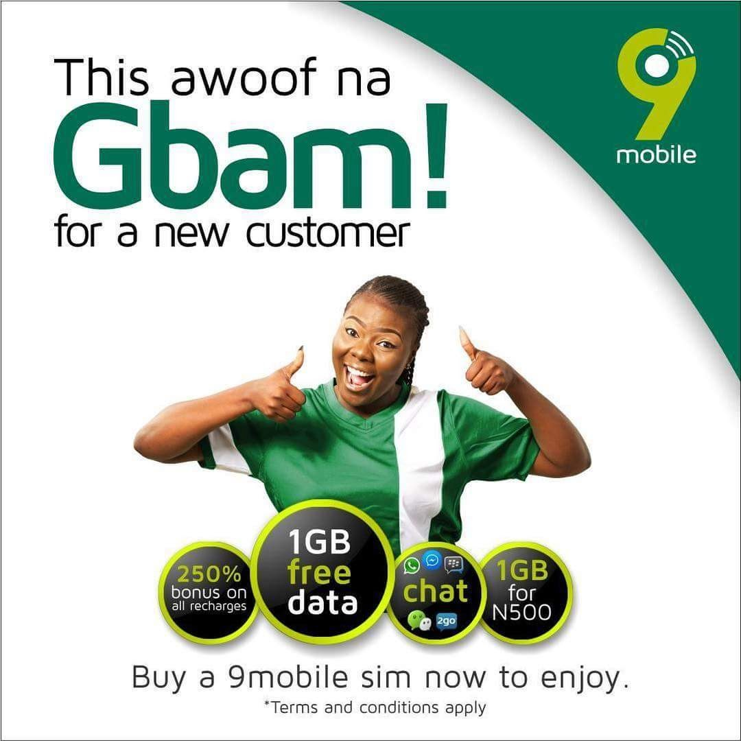 Photo of 9Mobile is giving out free 1GB of data when you do this