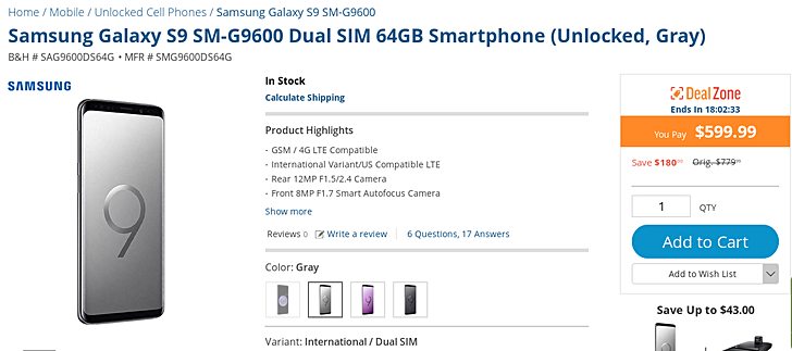 "Photo of HOT Deal: Get a Samsung Galaxy S9 ""Dual-SIM"" for $600 (₦216,000)"