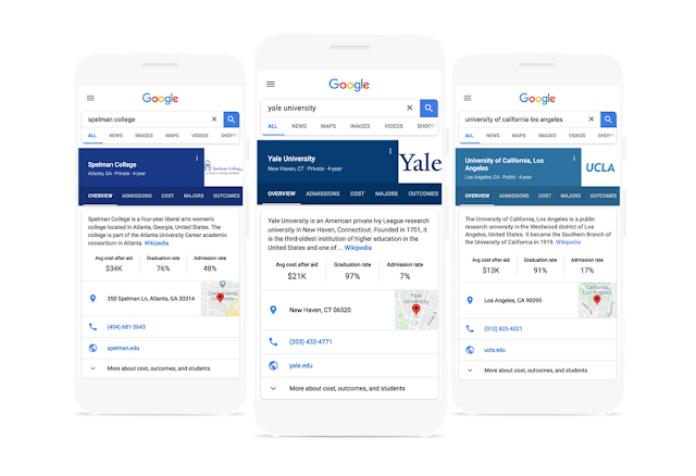 Photo of Google College Search adds a new features to help find Good School easily
