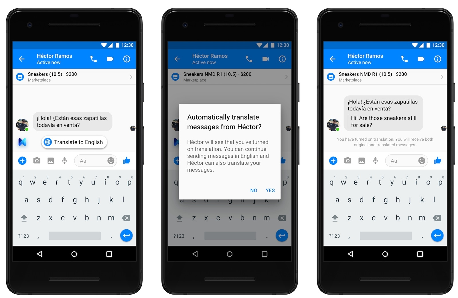 Photo of New Auto translation feature has been added to Facebook Messenger