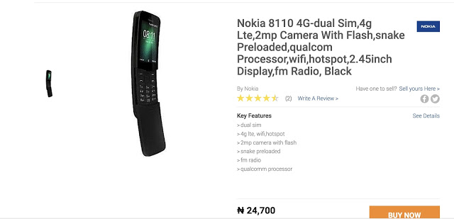 Photo of Nokia 8110 4G now available in Nigeria for just N24,700