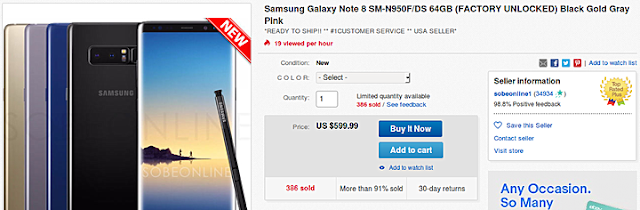 Photo of Samsung Galaxy Note 8 Dual Sim drops to $600 in the US