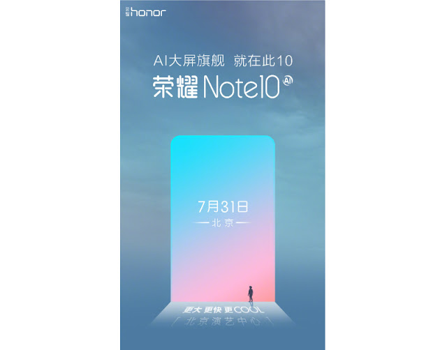 """Photo of Honor Note 10 with 6.95 """"FHD + display and 4900mAh battery appears on TENAA"""
