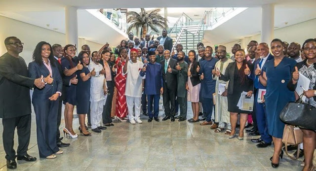 Photo of VP Osinbajo with Nigerian tech entrepreneurs visits Silicon Valley
