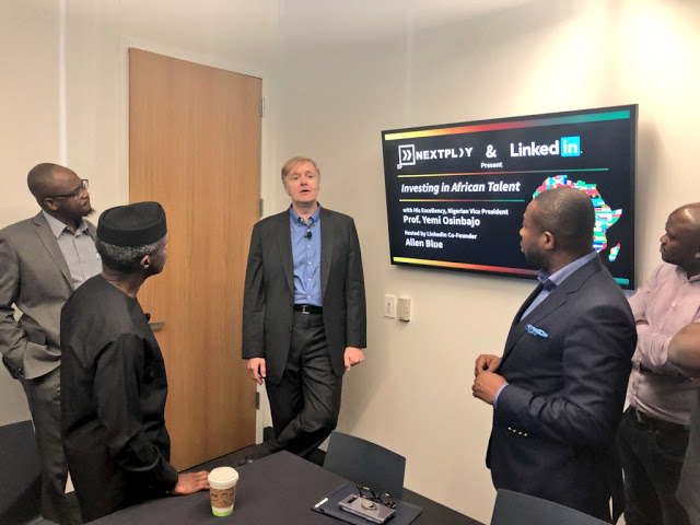 Photo of VP Osinbanjo continues to promote Nigeria to Hollywood and other investors in Silicon Valley
