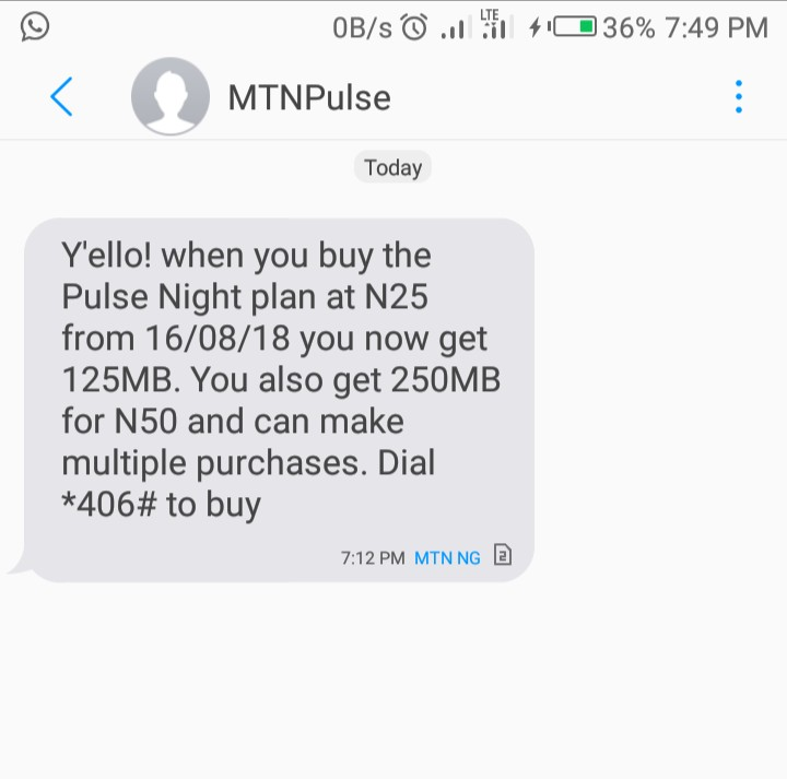 Photo of So bad, MTN increase the prices of Night plan data from N25 for 500MB to N25 for 125MB, N50 for 250MB