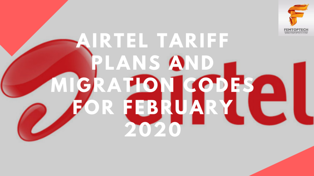 Airtel Tariff Plans And Migration codes for February 2020