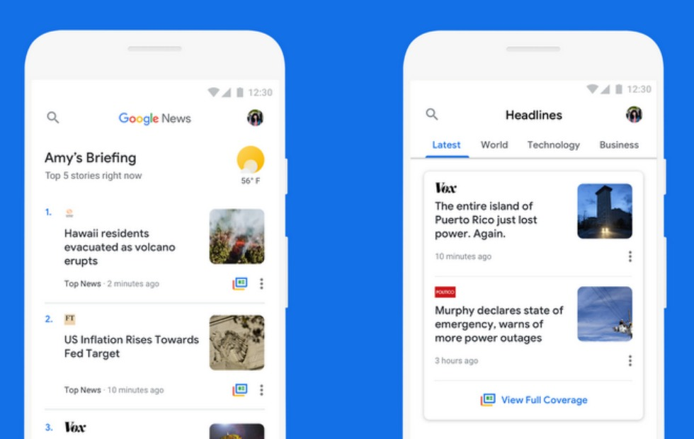 Photo of Google News updated with new features on Android Go devices