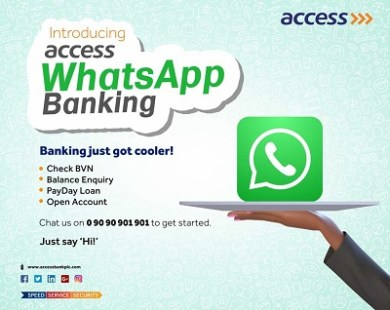 Photo of Access WhatsApp Banking, A new way to customer services