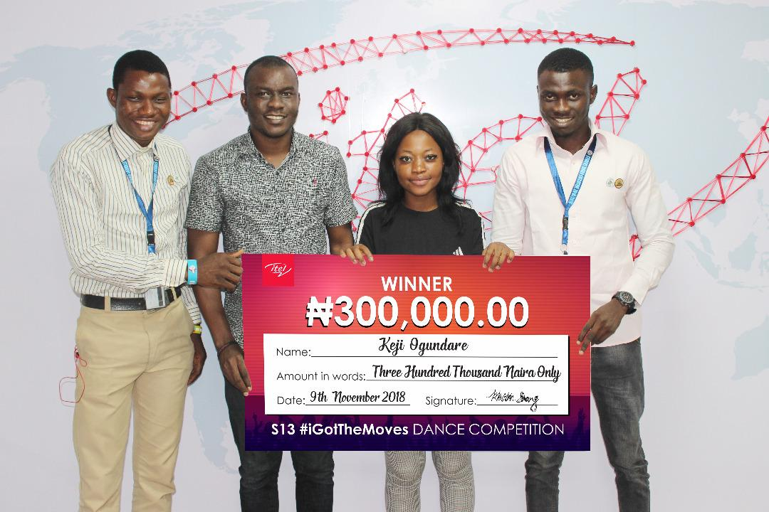Photo of ITEL MOBILE REWARDS STUDENTS WITH HALF A MILLION IN THE #IGOTTHEMOVES DANCE COMPETITION