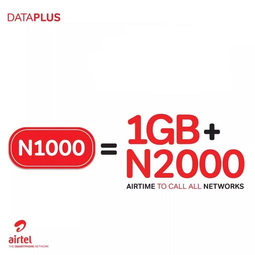 How To Activate Airtel DataPlus,1GB Data + N2000 Airtime For N1000