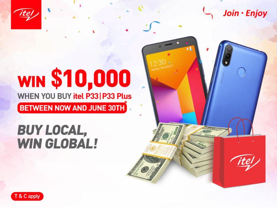 Buy itel P33 Plus/P33 and win $10,000 (N360,000) in itel latest promo