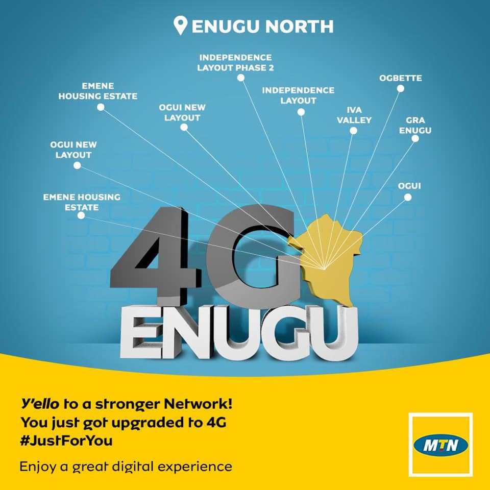 Photo of MTN Rolls out 4G In Enugu State Nigeria