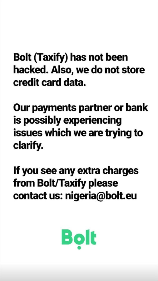 Bolt (Taxify) has allegedly been hacked but the company says otherwise