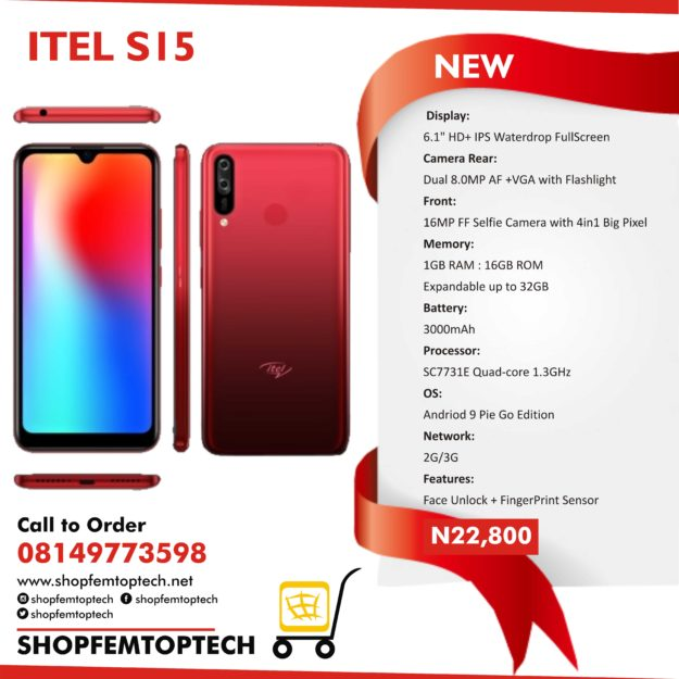 Limited Offer: Buy Itel S15 For Just N22,800