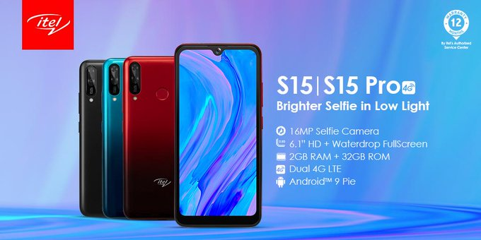 Itel S15 And S15 Pro with 4GLTE, 2GB RAM,Triple camera now available in the Nigeria market
