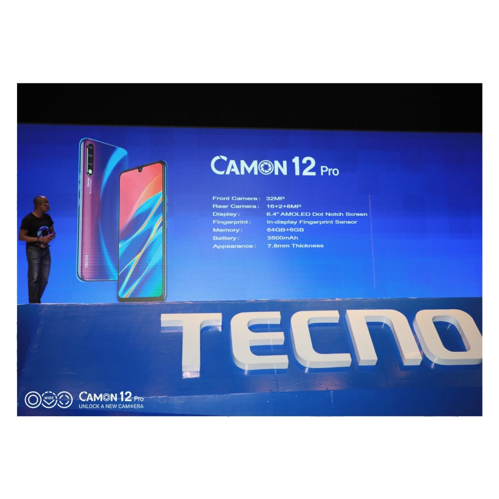 TECNO Mobile unveils three new Camon devices, Camon 12, 12 Pro and 12 Air