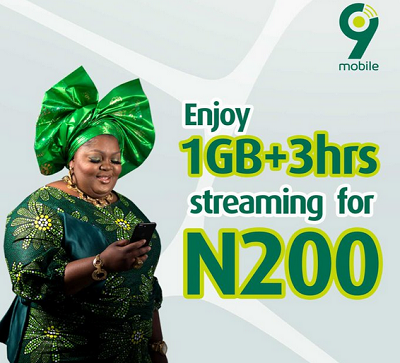 Photo of 9mobile Unveils 1GB + 3Hours Free Streaming for Just N200, See How To Activate