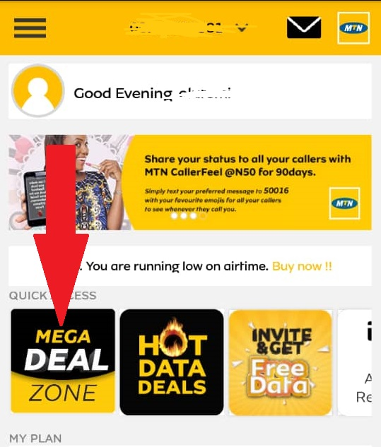 Here's how I activate MTN 9GB for N2000