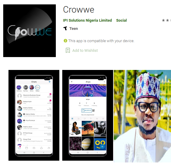 Adamu Garba steps down as the CEO of Crowwe app, hunts for new CEO